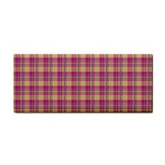 Pink Plaid Pattern Hand Towel
