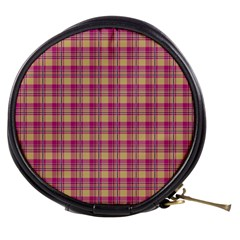 Pink Plaid Pattern Mini Makeup Bags