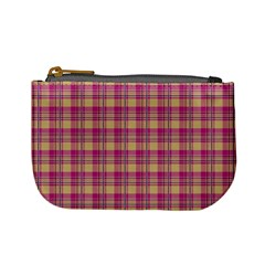 Pink Plaid Pattern Mini Coin Purses