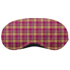 Pink Plaid Pattern Sleeping Masks