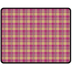 Pink Plaid Pattern Fleece Blanket (medium)