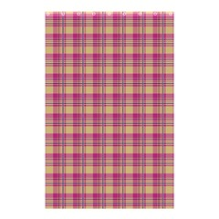 Pink Plaid Pattern Shower Curtain 48  X 72  (small)