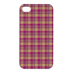 Pink Plaid Pattern Apple Iphone 4/4s Premium Hardshell Case