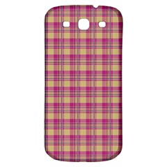 Pink Plaid Pattern Samsung Galaxy S3 S Iii Classic Hardshell Back Case