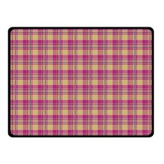 Pink Plaid Pattern Double Sided Fleece Blanket (Small)  by TastefulDesigns