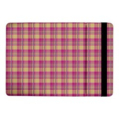 Pink Plaid Pattern Samsung Galaxy Tab Pro 10 1  Flip Case