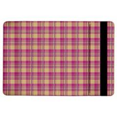 Pink Plaid Pattern Ipad Air 2 Flip by TastefulDesigns