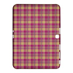 Pink Plaid Pattern Samsung Galaxy Tab 4 (10.1 ) Hardshell Case  by TastefulDesigns