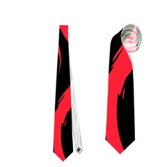 Abtract  Red Roses Pattern Neckties (one Side)