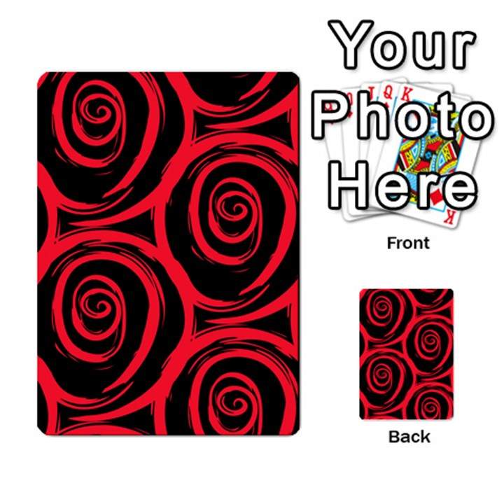 Abtract  Red Roses Pattern Multi-purpose Cards (Rectangle)