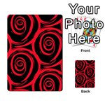Abtract  Red Roses Pattern Multi-purpose Cards (Rectangle)  Front 45