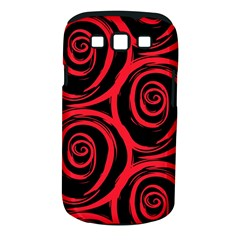 Abtract  Red Roses Pattern Samsung Galaxy S Iii Classic Hardshell Case (pc+silicone)
