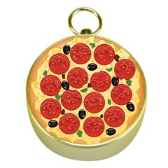 Pizza Gold Compass by typewriter