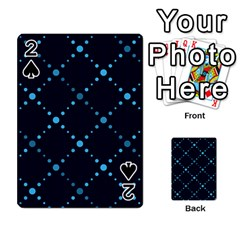 Seamless Geometric Blue Dots Pattern  Playing Cards 54 Designs  by TastefulDesigns