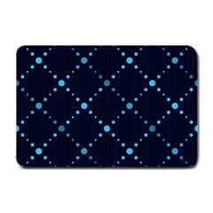 Seamless Geometric Blue Dots Pattern  Small Doormat  by TastefulDesigns