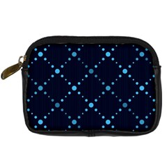 Seamless Geometric Blue Dots Pattern  Digital Camera Cases