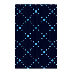 Seamless Geometric Blue Dots Pattern  Shower Curtain 48  X 72  (small)  by TastefulDesigns