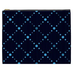 Seamless Geometric Blue Dots Pattern  Cosmetic Bag (xxxl)