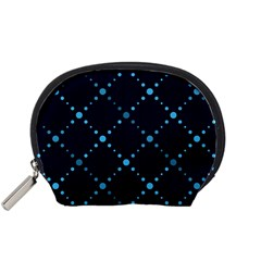 Seamless Geometric Blue Dots Pattern  Accessory Pouches (small)  by TastefulDesigns
