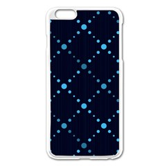 Seamless Geometric Blue Dots Pattern  Apple Iphone 6 Plus/6s Plus Enamel White Case by TastefulDesigns