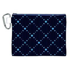 Seamless Geometric Blue Dots Pattern  Canvas Cosmetic Bag (xxl)  by TastefulDesigns