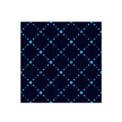 Seamless Geometric Blue Dots Pattern  Satin Bandana Scarf