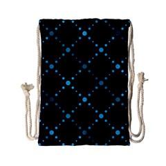 Seamless Geometric Blue Dots Pattern  Drawstring Bag (small)