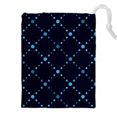 Seamless Geometric Blue Dots Pattern  Drawstring Pouches (xxl)
