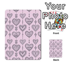 Sketches Ornamental Hearts Pattern Multi Purpose Cards (rectangle)
