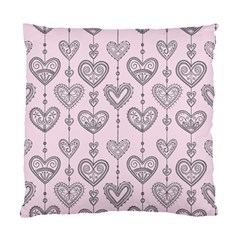 Sketches Ornamental Hearts Pattern Standard Cushion Case (one Side) by TastefulDesigns