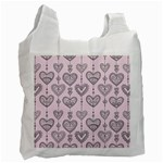 Sketches Ornamental Hearts Pattern Recycle Bag (Two Side)  Front