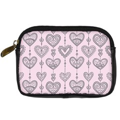Sketches Ornamental Hearts Pattern Digital Camera Cases