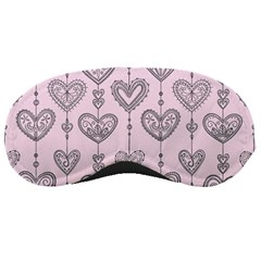 Sketches Ornamental Hearts Pattern Sleeping Masks by TastefulDesigns