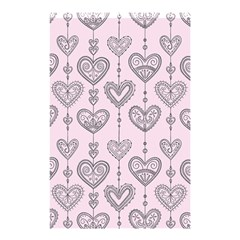 Sketches Ornamental Hearts Pattern Shower Curtain 48  X 72  (small)
