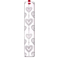Sketches Ornamental Hearts Pattern Large Book Marks