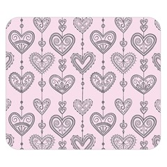 Sketches Ornamental Hearts Pattern Double Sided Flano Blanket (small)  by TastefulDesigns