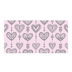 Sketches Ornamental Hearts Pattern Satin Wrap