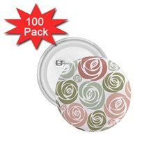 Retro Elegant Floral Pattern 1 75  Buttons (100 Pack)