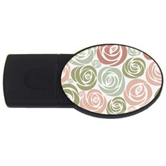 Retro Elegant Floral Pattern Usb Flash Drive Oval (2 Gb)  by TastefulDesigns