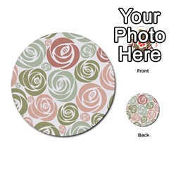 Retro Elegant Floral Pattern Multi Purpose Cards (round)  by TastefulDesigns