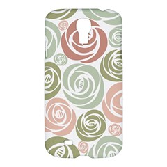 Retro Elegant Floral Pattern Samsung Galaxy S4 I9500/i9505 Hardshell Case by TastefulDesigns