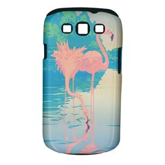Two Pink Flamingos Pop Art Samsung Galaxy S Iii Classic Hardshell Case (pc+silicone) by WaltCurleeArt