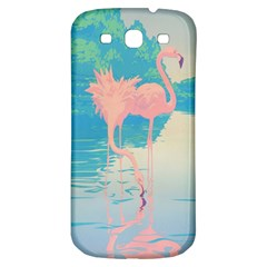 Two Pink Flamingos Pop Art Samsung Galaxy S3 S Iii Classic Hardshell Back Case by WaltCurleeArt