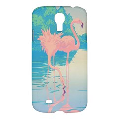 Two Pink Flamingos Pop Art Samsung Galaxy S4 I9500/i9505 Hardshell Case by WaltCurleeArt
