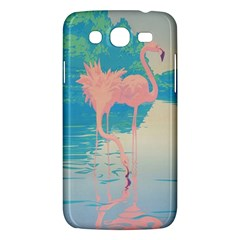 Two Pink Flamingos Pop Art Samsung Galaxy Mega 5 8 I9152 Hardshell Case  by WaltCurleeArt
