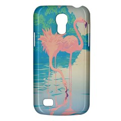 Two Pink Flamingos Pop Art Galaxy S4 Mini by WaltCurleeArt