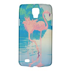 Two Pink Flamingos Pop Art Galaxy S4 Active by WaltCurleeArt