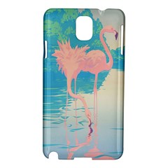 Two Pink Flamingos Pop Art Samsung Galaxy Note 3 N9005 Hardshell Case by WaltCurleeArt