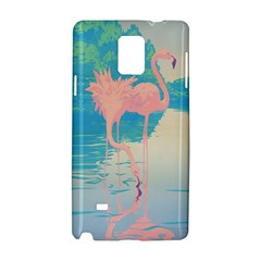 Two Pink Flamingos Pop Art Samsung Galaxy Note 4 Hardshell Case by WaltCurleeArt