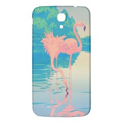 Two Pink Flamingos Pop Art Samsung Galaxy Mega I9200 Hardshell Back Case by WaltCurleeArt